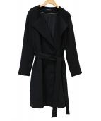 LAUTRE AMONT(ロートレアモン)の古着「セラテリーダブルクロスコート」|ブラック