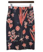wb(ダブルビー)の古着「花柄スカート」|グリーン
