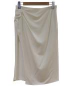 wb(ダブルビー)の古着「ラップ風ロングスカート」|ホワイト