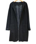LAUTRE AMONT(ロートレアモン)の古着「圧縮ブークレーロングジャケット」|グレー