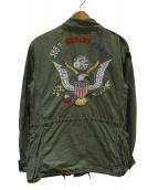 POLO RALPH LAUREN(ポロ バイ ラルフローレン)の古着「背面刺繍M65ジャケット」|グリーン
