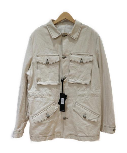 GAZZARRINI(ガッザリーニ)GAZZARRINI (ガッザリーニ) カバーオール ホワイト サイズ:Lの古着・服飾アイテム