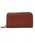BOTTEGA VENETA(ボッテガヴェネタ)の古着「ラウンドジップ長財布」|ピンク