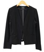 WB(ダブルビ)の古着「カラーレスジャケット」|ブラック