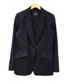 wb(ダブルビ)の古着「カシミヤテーラードジャケット」|ブラック
