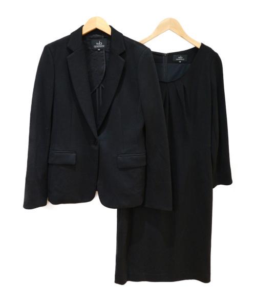 wb(ダブルビー)wb (ダブルビー) ワンピースセットアップ ブラック サイズ:40の古着・服飾アイテム