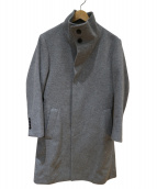 ARTISAN(アルティザン)の古着「ウールカシミヤビーバーオブロングコート」|グレー