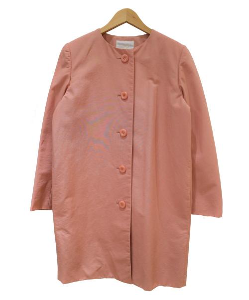 aA(エーエー)aA (エーエー) ノーカラーコート ベージュ サイズ:38の古着・服飾アイテム