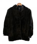 ノーブランド(ノーブランド)の古着「毛皮ショートコート」 ブラック