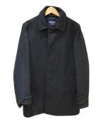 LONDON Tradition(ロンドントラディション)の古着「SHIPS別注シングルメルトンコート」 グレー