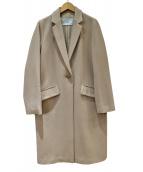 TIARA(ティアラ)の古着「ベーシックチェスターコート」 ベージュ