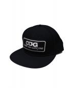 COMME des GARCONS(コムデギャルソン)の古着「ロゴパッチキャップ」|ブラック