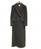 IENA LA BOUCLE(イエナ ラ ブークル)の古着「グレンチェックアルスターコート」|ベージュ×ブラック