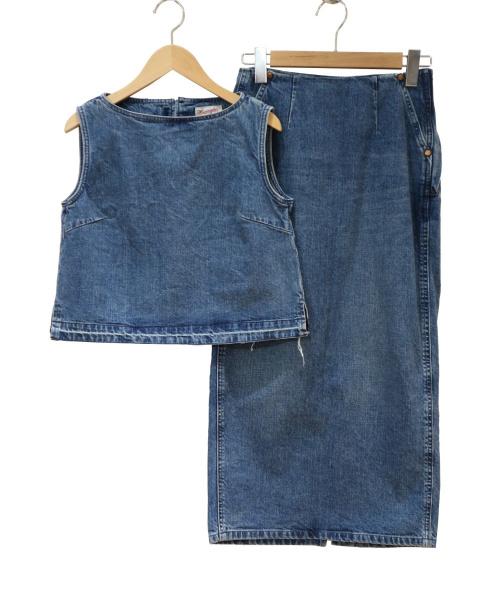 Ron Herman × Wrangler(ロンハーマン×ラングラー)Ron Herman × Wrangler (ロンハーマン×ラングラー) セットアップデニムブラウス ブルー サイズ:XSの古着・服飾アイテム