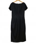 Sybilla(シビラ)の古着「半袖ロングワンピース」 ブラック