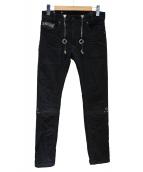 DIESEL(ディーゼル)の古着「デニムパンツ」 ブラック