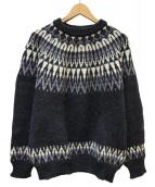 GUERNSEY WOOLLENS(ガンジーウーレンズ)の古着「ノルディックセーター」|グレー
