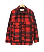 FILSON(フィルソン)の古着「マッキーノウールクルーザージャケット」|レッド×ブラック