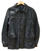 A(エィス)の古着「レザーカーコート」|ブラック