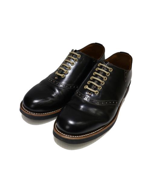 REGAL×GLADHAND(リーガル×グラッドハンド)REGAL×GLADHAND (リーガル×グラッドハンド) サドルシューズ ブラック サイズ:US 8 606S GHの古着・服飾アイテム
