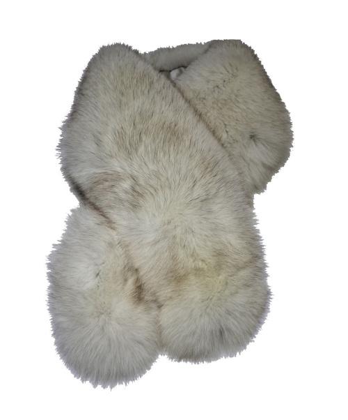 SAGA FURS(サガファーズ)SAGA FURS (サガファーズ) ファーティペット ライトグレーの古着・服飾アイテム