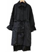 ADORE(アドーア)の古着「コンパクトコットンストレッチサイドボタンコート」|ブラック