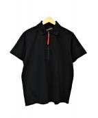 PRADA SPORTS(プラダスポーツ)の古着「ハーフジップポロシャツ」|ブラック