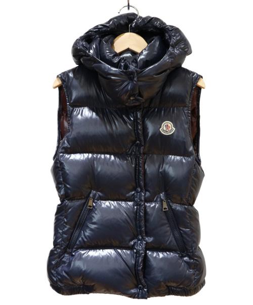 MONCLER(モンクレール)MONCLER (モンクレール) フーデットダウンベスト ネイビー サイズ:1 GALENE GILETの古着・服飾アイテム
