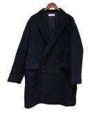 BEAUTY&YOUTH(ビューティーアンドユース)の古着「メルトンダブルチェスターコート」|ネイビー