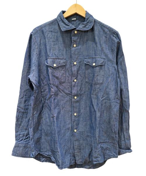 45R(フォーティファイブアール)45R (フォーティファイブアール) コットンリネンイースタンシャツ インディゴ サイズ:4の古着・服飾アイテム