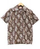 THE REAL McCOYS(リアルマッコイズ)の古着「カウボーイ柄アロハシャツ」|ブラウン