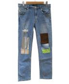 Vaporize(ヴェイパライズ)の古着「グランジジーンズ」 ブルー
