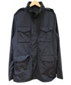 1piu1uguale3(ウノピュウノウグァーレトレ)の古着「ナイロンフィールドジャケット」|ブラック