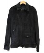 1piu1uguale3(ウノピュウノウグァーレトレ)の古着「ラムレザージャケット」|ブラック