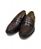 BUCCHUS(バッカス)の古着「PENNY LOAFER」 ブラウン