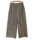 ADORE(アドーア)の古着「サーブルヘリンボーンワイドパンツ」|ブラウン