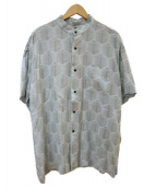 SASQUATCHfabrix.(ザスクワッチファブリックス)の古着「ナンポウプラントスタンドカラーシャツ」|グレー