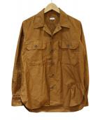 ORIAN(オリアン)の古着「コットンツイルサファリシャツ」|ブラウン