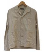 THE GIGI(ザ・ジジ)の古着「コットンリネンオープンカラーシャツジャケット」|ベージュ