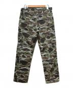 Carhartt WIP(カーハートダブリューアイピー)の古着「OVERALL MASTER CLOTH CAMO PANT」 カーキ