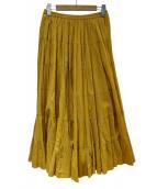 MARIHA(マリハ)の古着「草原の虹のスカート」 イエロー