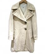 MARELLA(マレーラ)の古着「カシミヤ混ウールコート」|アイボリー