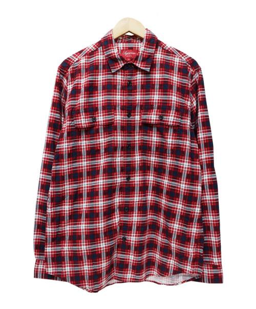SUPREME(シュプリーム)Supreme (シュプリーム) チェックシャツ レッド サイズ:Mの古着・服飾アイテム