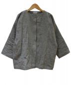 KASUMI YAOITA(カスミヤオイタ)の古着「リネンジャケット」 グレー