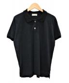 MARGARET HOWELL(マーガレットハウエル)の古着「リネンジャージーポロシャツ」|ブラック