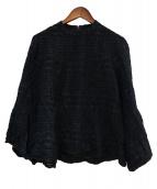 muller of yoshiokubo(ミュラーオブヨシオクボ)の古着「ウール混ブラウス」|ブラック