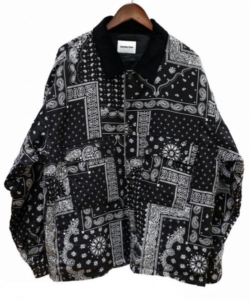 MONKEY TIME(モンキータイム)MONKEY TIME (モンキータイム) PAISLEY PRINT PADDED CPO SHIRT ブラック サイズ:XLの古着・服飾アイテム