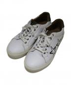 Pantofola dOro(パントフォラドーロ)の古着「サイドペイントレザースニーカー」|ホワイト