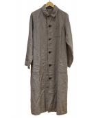 nest robe(ネストローブ)の古着「高密度リネンアトリエコート」|グレー