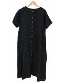 nest Robe(ネストローブ)の古着「リネンワンピース」|ブラック